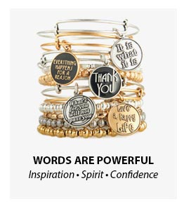 Alex and Ani Words are Powerful Collection